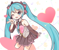 MIKU love by loli-drop