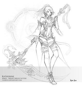 Katherine: Concept and Lineart by Tsureiyu