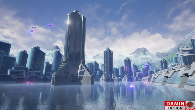 Unreal Engine 4 Future City by DaminDesign