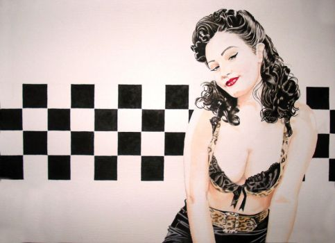 Aria in Checkers Retro by alfred24