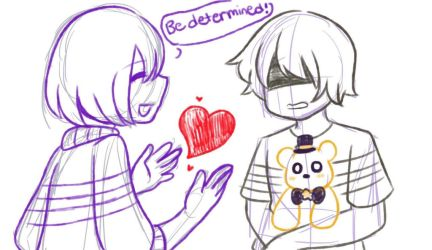[Undertale and FNAF crossover] by MADzo22