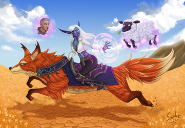 Wow - Archmage Enora and Khadgar by Eyoha