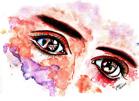Eye Study Watercolor by Jadesweetboxx