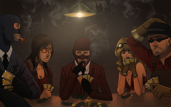 commission: tf2 poker night by Detkef