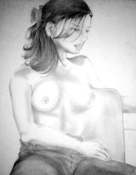 half-nude sketch: female by Daniel-09