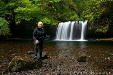 Me at the falls by La-Vita-a-Bella