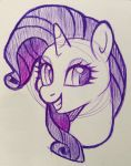 Rarity Sketch by The-Sacred-Rose