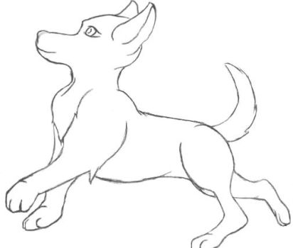 Canine Line Art (free-to-use) by gamerd