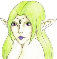 Fey Portrait Coloured by WargmoDesign