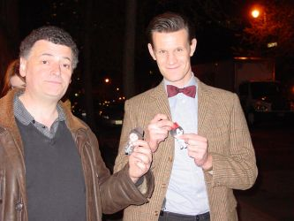 Stephen Moffat and Matt Smith w/ Magnets by cosplayscramble