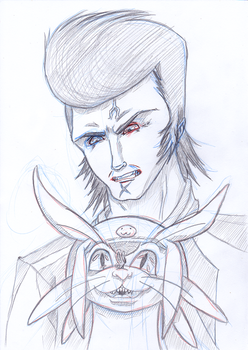 BA S04B01 - Space Dandy [Sketch] by Blader3000