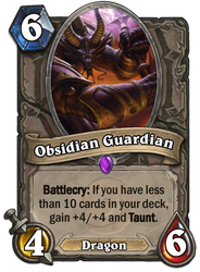 Hearthstone card concept - Obsidian Guardian by SnowingGnat