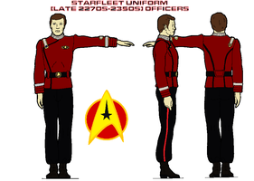 Starfleet uniform (late 2270s-2350s) Officers by bagera3005