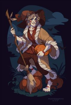 Pumpkins and Witches by morteraphan