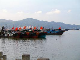 Chinese Fishing Fleet by Saffiter