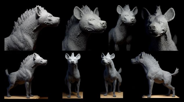 Hyena Sculpture: unpainted by rgyoung