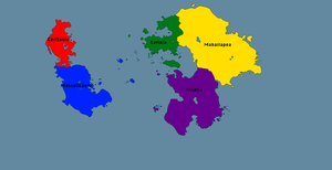 Map Of Planet Prehistora With Continents by GeneralHelghast