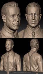Humphrey Bogart Sculpt by LexTripper