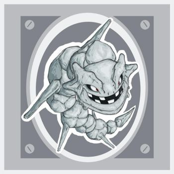 Steelix Metal Plate by Xebeckle-il-Ziluf