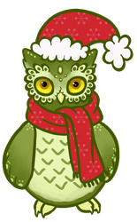 Christmas Owl by CurlyCat3