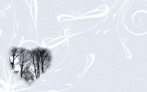 Winter Trees Wallpaper by Silent-Broken-Wish