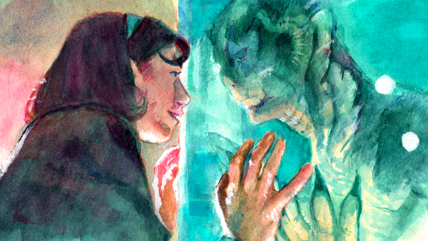 Shape Of Water(color) [AVAILABLE AS PRINT] by asterkallium
