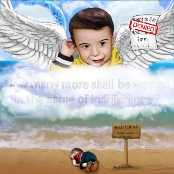 No Littering - Aylan Kurdi Tribute by SuperSmurgger