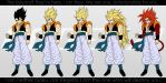 All Forms of Gogeta. by moxie2D