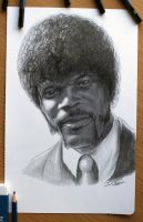 Samuel L. Jackson : Pulp Fiction by AtomiccircuS