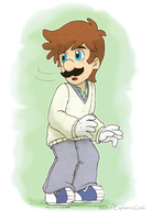 UglySketchColored: Luigi by The-PirateQueen