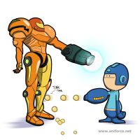 Samus Vs. Megaman by Aniforce
