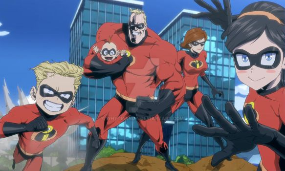 The Incredibles in My Hero Academia at U.A by WhytManga