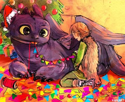 laovaan 1056 45 prepare for christmas by kadeart0 - How To Train Your Dragon Christmas