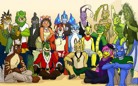 Christmas 2011 TAR Group Picture by buizelmaniac