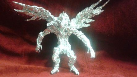 Flying Monkey - Aluminum Foil Sculpture by TheFoilGuy