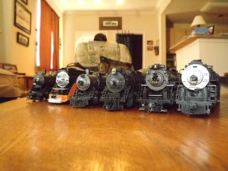 HO Scale Steam Locomotive Roster by metalheadrailfan