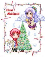 Angel Beats Christmas Card by stray-life