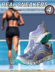 S3D Real Sneakers 4 for Genesis 3 and 8 Female(s) by Slide3D