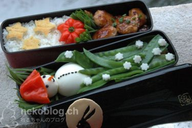 Snowman Bento by YnekochanY