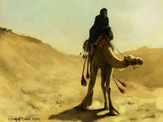 Study of Camel Rider by crazypalette