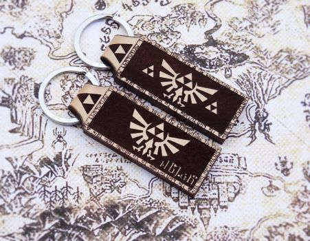 Legend of Zelda inspired  leather keychain by venmehiccustom