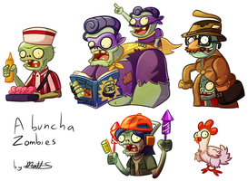 PvZ - A buncha' Zombies by LWB-the-FluffyMystic