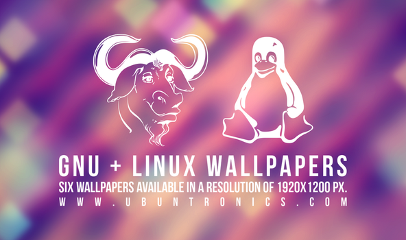 Six wallpapers of GNU 'n' Linux by mylittledemons