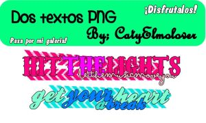 2 Textos PNG by CatyElmolover