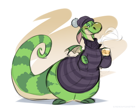 Coffee Dragon by AidenMonster