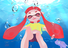 Inkling (dying) by Caesaroid
