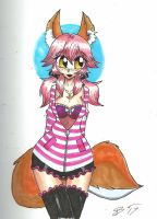 Foxy Waifu in Color by Escafa