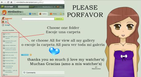 FOR SEE MY GALLERY - PARA VER MI GALERIA by LiaxmmyArt
