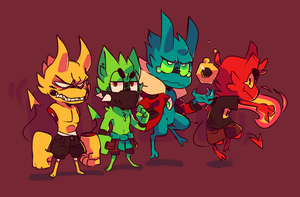 Assorted Daemons by Ionic-Isaac