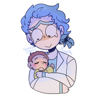 Bby Morty And Young Rick by MoopMo